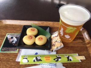パンダだんごとビール